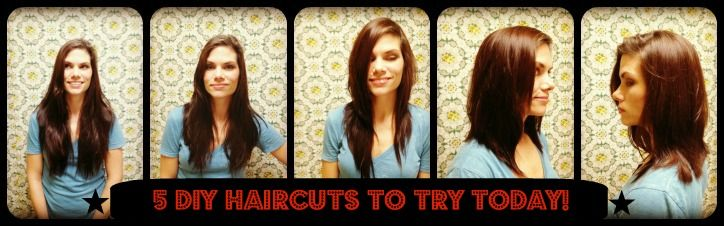 "5 different DIY ""ponytail"" haircuts. I did #3- literally took 2 minutes and looks awesome."