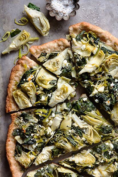 Spinach Artichoke Flatbread via Bakers Royale