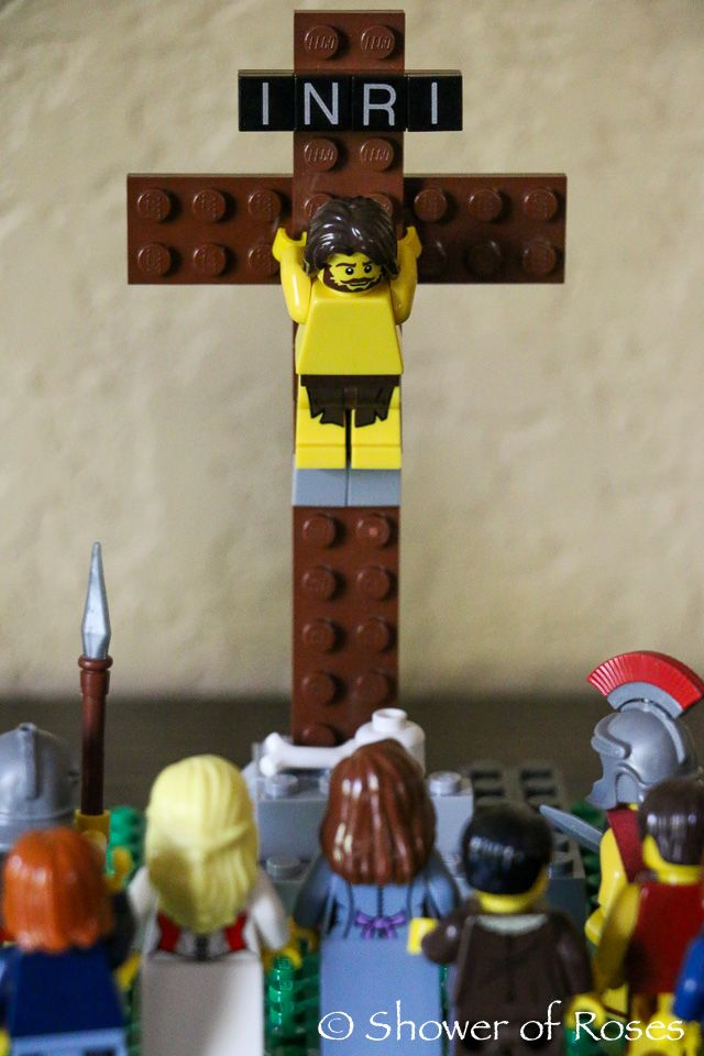 Shower of Roses: The Easter Story {LEGO Edition}
