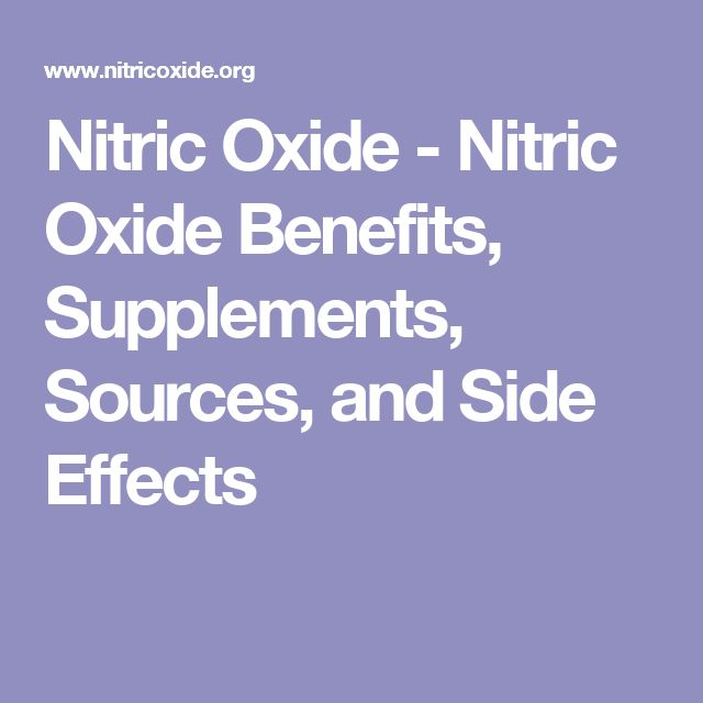 Nitric Oxide - Nitric Oxide Benefits, Supplements, Sources, and Side Effects
