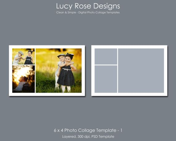 6 x 4 Photo Collage Template - 1 - $3