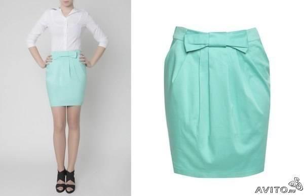 Мятная юбка купить