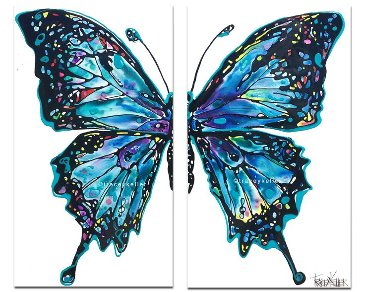 Ulysses Flow | Butterfly Diptych Painting