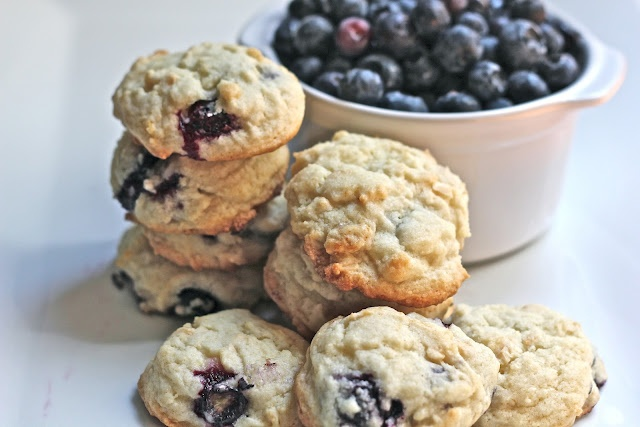 Savor Home: Almond & Lemon Blueberry Cookies Scone-like, sweet and ...
