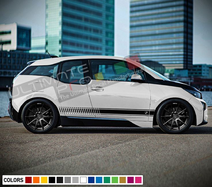 Decal sticker stripe kit for bmw i3 wing bumper carbon