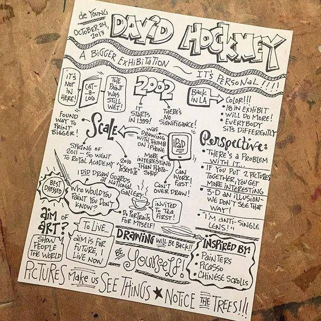Pictures make us see things! David Hockney interview #sketchnotes @deyoungmuseum #creativity http://t.co/Yjq0KvQjLo