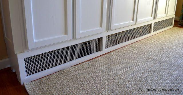 Work around baseboard heating