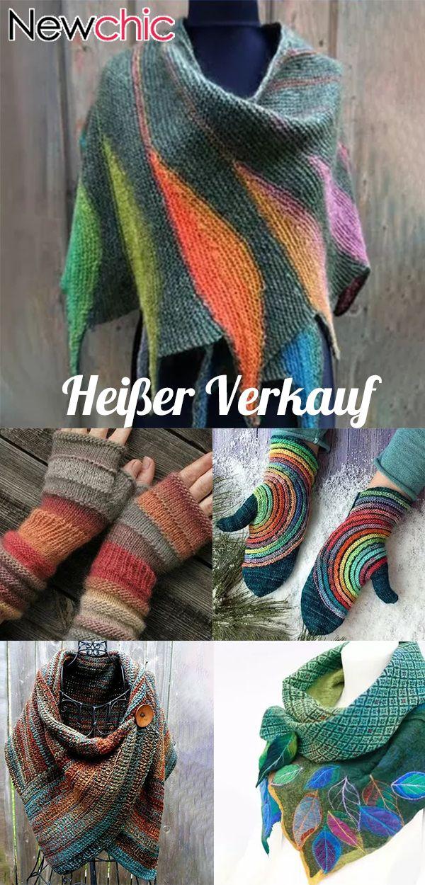 jetzt kaufen|Damen Casual Multicolor Stripes Rundhals Schals & Tücher Crochet Wrap Pattern