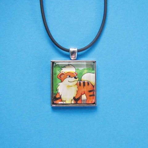 Pokemon Pendant - Growlithe only $8 @ OMG! Cute Kitten - Australian Handmade Jewellery