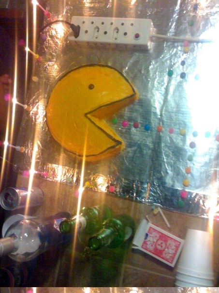 Pacman cake   my 21st in 2009