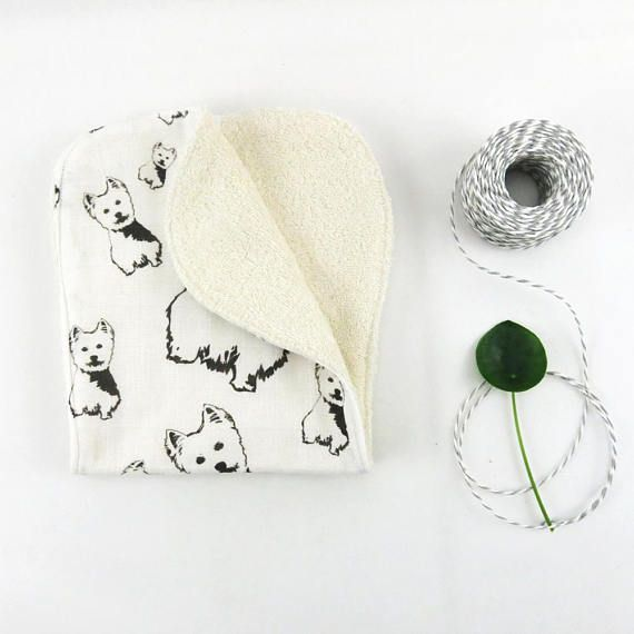 West Highland Terrier Organic Muslin And Organic Terry Cloth