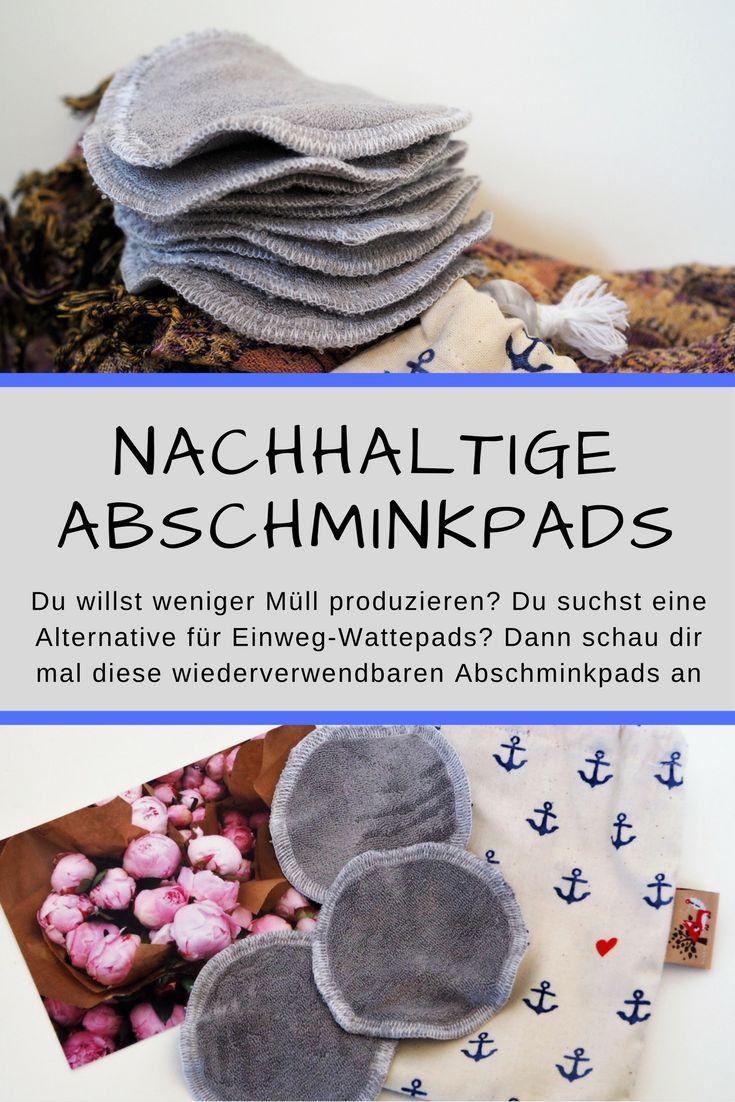 Nachhaltige Abschminkpads von Katjuscha