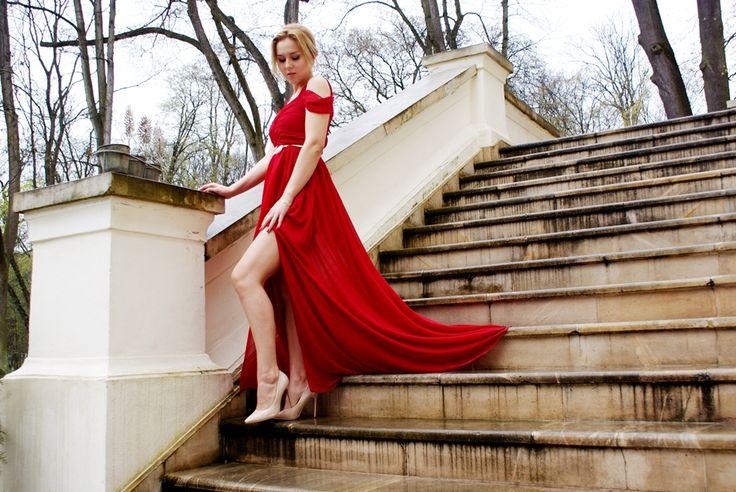 czerwona suknia, red dress, studniówka, wesele, czerwona sukienka,