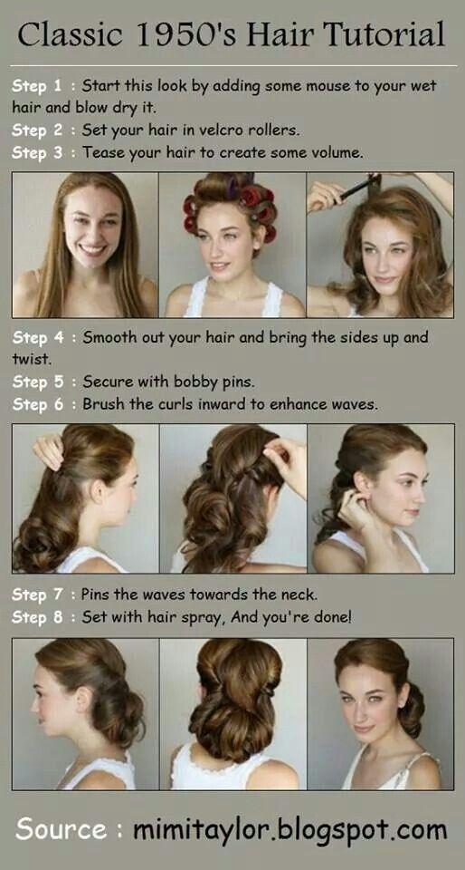 classic 1950's Hair tutorial.. #vintage #hairstyles