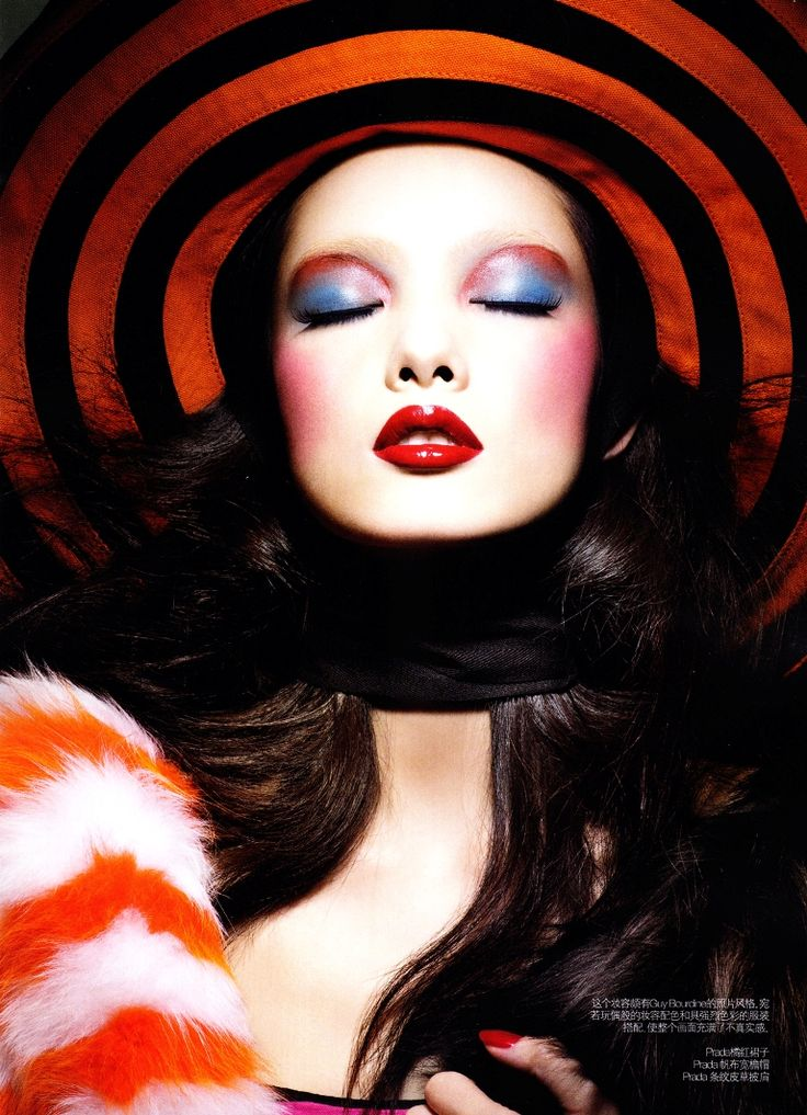 "Fei Fei Sun | photo by Raymond Meier | beauty editorial titled ""Colour Kaleidoscope"" from Vogue China March 2011"