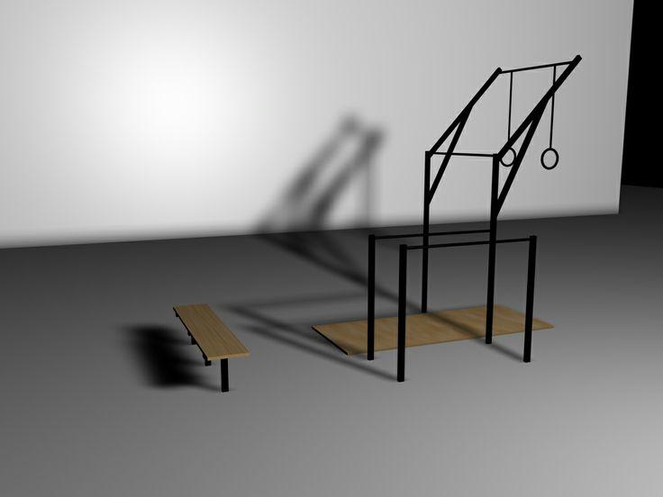 diy garage gym ideas - calisthenics outdoor gym HOME GYM Pinterest