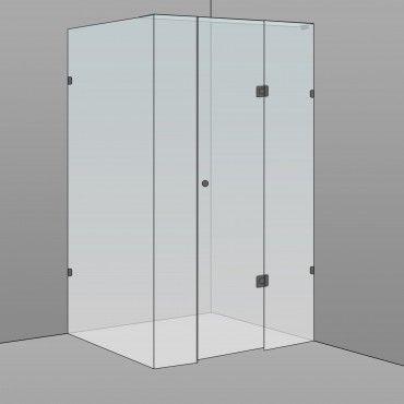 Rectangle Frameless Shower 900x1200x2100mm