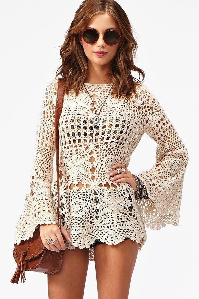 beautiful crochet fashion for beach | make handmade, crochet, craft