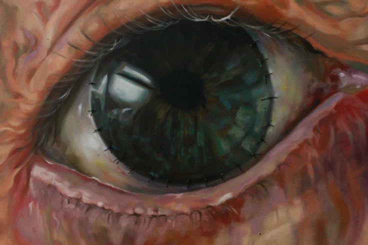 ''Gör-me''  70x100 cm Mixed technique  SİBEL GÜREL