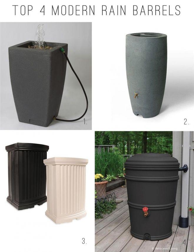Top Modern Rain Barrels