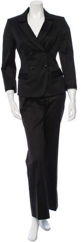 Burberry Fitted Wide-Leg Pantsuit