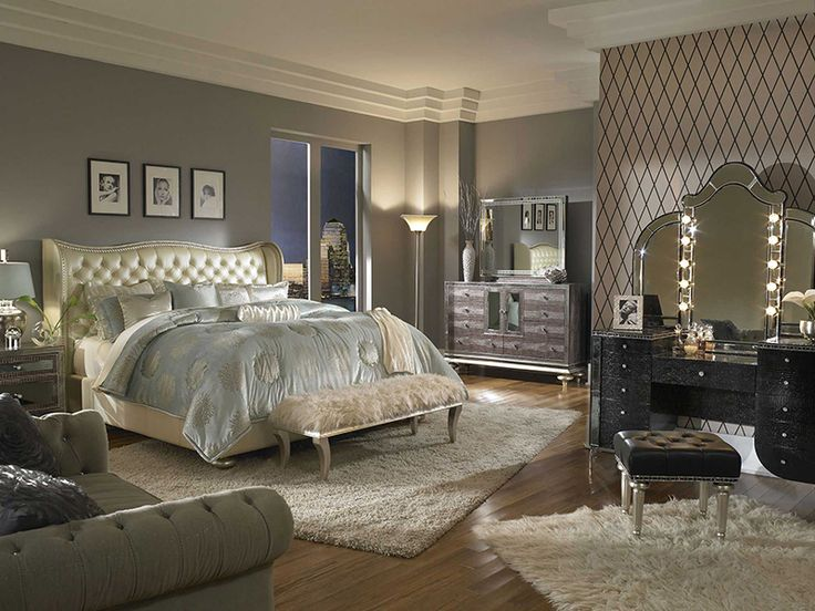 Amazing Glam Bedroom Ideas for Queens and Celebrities in a Secret Heart! Discover more at our blog: http://blog.furniturecart.com/  #glam_bedroom #Pulaski #AICO #Furniture_of_America #bedroom_ideas #chic #feminine_bedroom