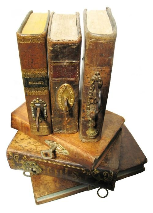 key holes and keys on the spines of old books...very interesting...