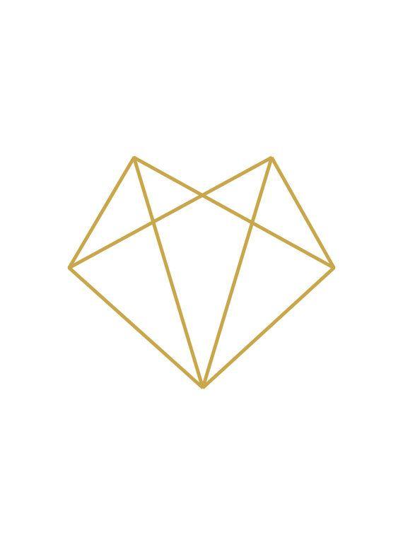Gold Fox Fox Wall Art Gold Diamond Print by MelindaWoodDesigns