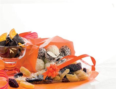 Konfekt med frugt og kokos - Hjemmet DK