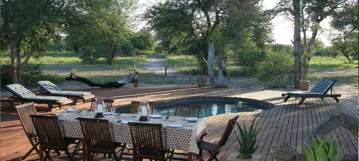 Poolside at Haina Kalahari Lodge