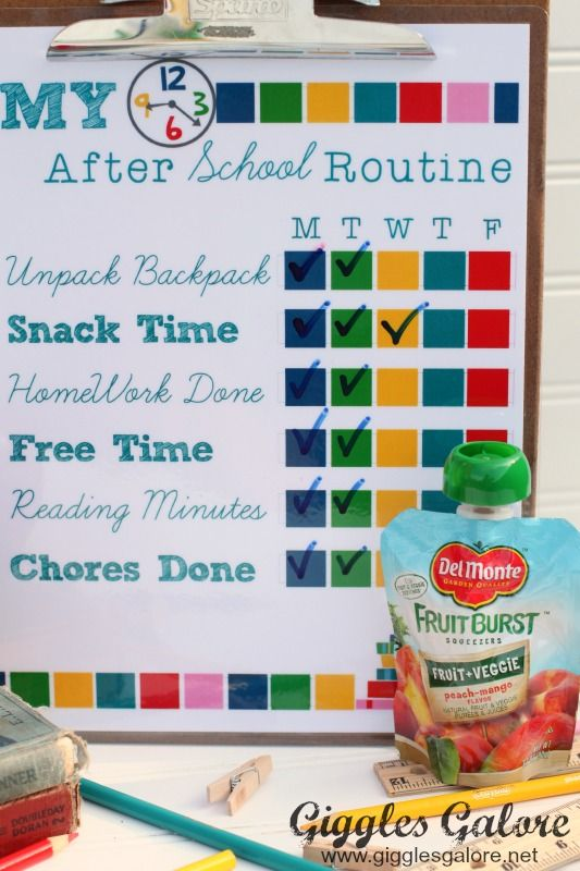 My After School Routine and Del Monte Snack