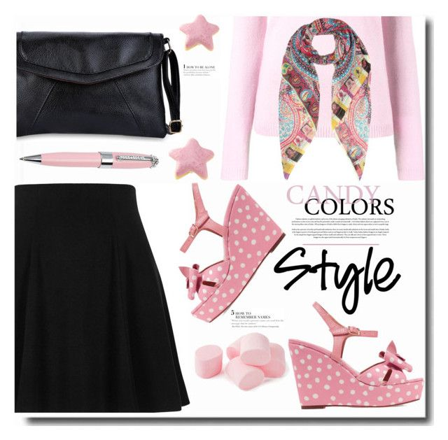 """""""Prints, Patterns or Stripes"""" by ucetmal-1 ❤ liked on Polyvore featuring Bella Freud, Etro, River Island, RED Valentino, ICE London and prints"""