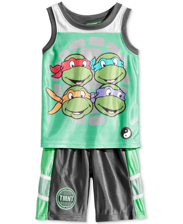 Nannette 2-Pc. Ninja Turtle Graphic-Print Tank Top & Shorts Set, Toddler & Little Boys (2T-7)