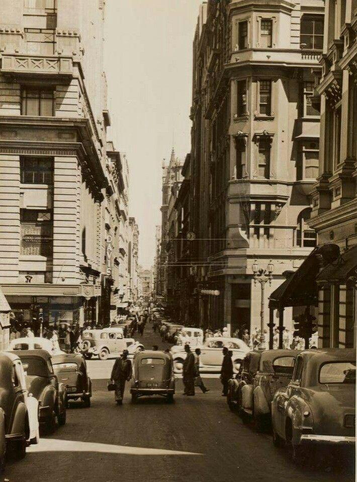 Flinders Lane,Melbourne in Victoria looking west in 1950.