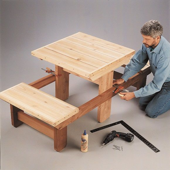 Diy Picnic Table For Two Outside Equipment Kinder