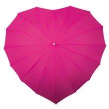 Herzchen Regenschirm Fuchsia - Rosa