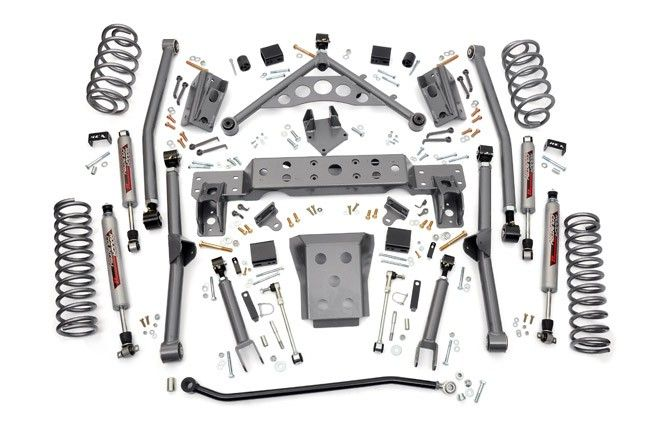 4in Long Arm Suspension Lift Kit for 99-04 Jeep WJ Grand Cherokee [908.20] | Rough Country Suspension Systems