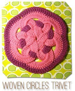Woven Circles trivet- crochet free pattern with tutorial. A note: I had a friend, years ago, and her mother made me one of these...I loved it!!  Used it for years.  Thanks to this tutorial; maybe I can make one now.