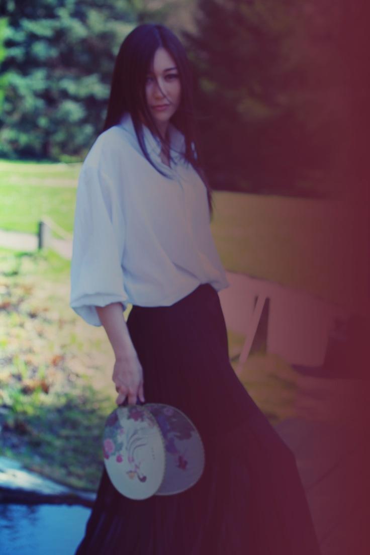 Me. Spring 2012 photoshooting in Japanese garden in Moscow. Photographer: A.Abdulkarimova. Model: Anastasia Kochmarskaya