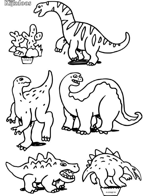Dinosaurus Extra aanvulling - Kijkdoos - Knutselpagina.nl - knutselen, knutselen en nog eens knutselen.