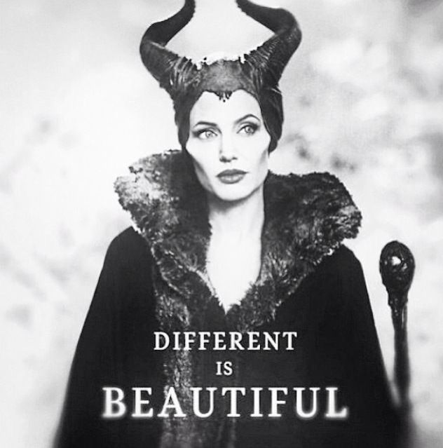 Diferent is beautiful. #Maleficent