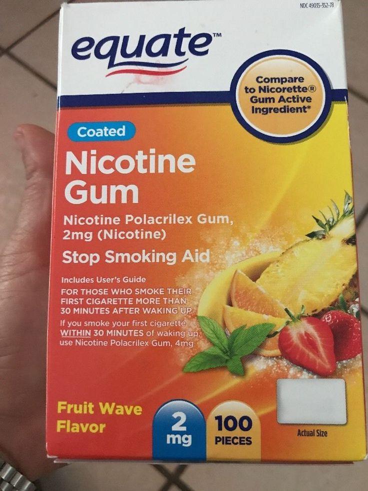 Equate Nicotine Gum 2 Mg Fruit Flavor Stop Smoking Aid - 100 Ct #Equate