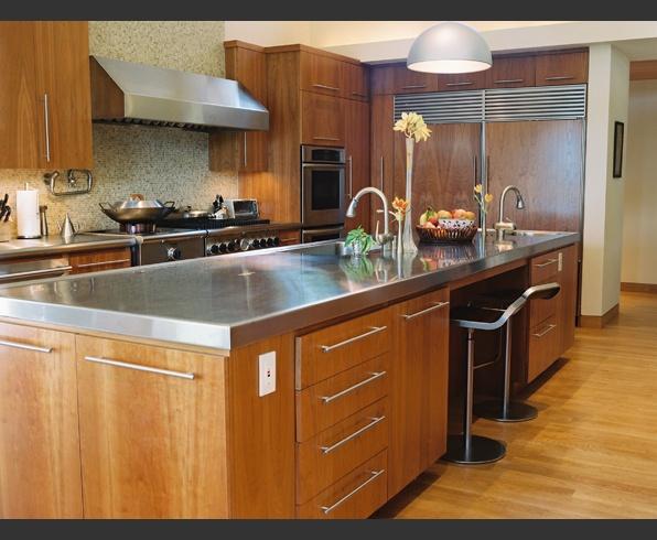 stainless steel countertops   william hefner architecture #kitchen #modern kitchen