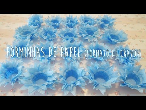 DIY | Forminhas de Doces de Papel (Modelo 2 - Sem Molde) - YouTube