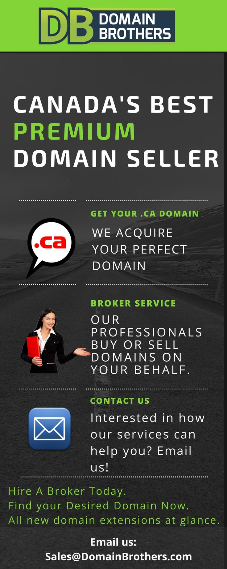 Buy and sell domains with DomainBrothers.com. Over 15+ Years of Experience in Buying, Selling and Acquiring a Domain Name on Your Behalf. Buy It Now! www.DomainBrothers.com