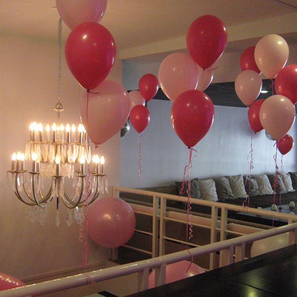 Trosjes Helium Ballonnen Roze