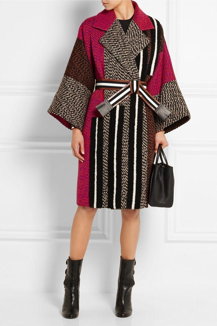 Fendi | Patchwork wool-blend bouclé coat | NET-A-PORTER.COM