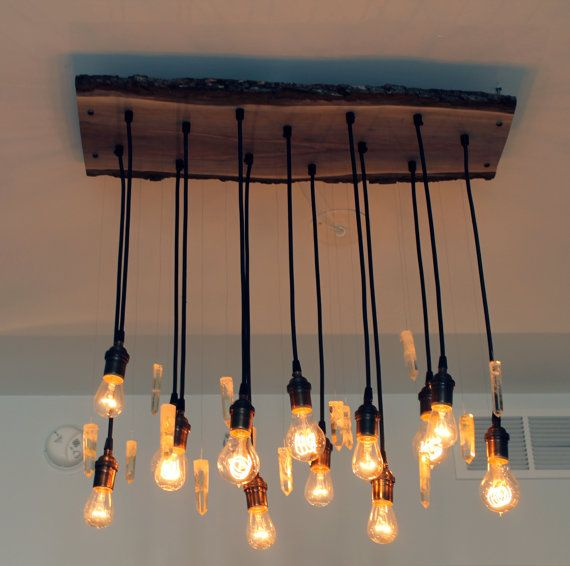 Summer Promo Urban Chic Chandelier With Exposed Bulbs Kitchen Lighting Modern