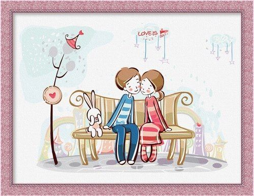 CR 021 – Lovely Couple and Rabbit Rp 165.000,-  Canvas size: Ukuran 30 x 40 Packaging size: 31 x 41 x 3.5 cm (setara dengan 1 kg)  ALICE painting kit sudah termasuk - Kanvas pattern lukisan yg dibuat dari high grade cotton dengan tekstur halus. - Cat pigment warna yg ramah lingkungan, tidak beracun dan tidak cepat pudar. - Beberapa kuas nylon. - Kertas manual kode warna  Contact: Email: jjbigstore@yahoo.com We Chat, Kakao, Line: silvblue SMS: 0818 0832 9022 WhatsApp 0896-2860-9094