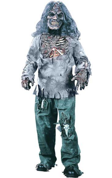 Complete Zombie Halloween Costume (child Size)   Jokers Masquerade